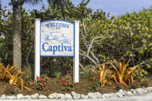 Captiva Island welcome sign in Florida